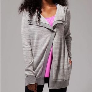 Ivivva | Girl's Grey Wrap Sweater Top Hooded 12